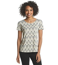 Notations® Chevron Print Tee