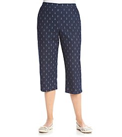 Alfred Dunner® All Aboard Anchors Printed Capri