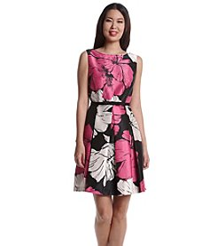 Gabby Skye® Shantung Floral Patterned Dress
