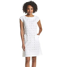Madison Leigh® Eyelet Shift Dress