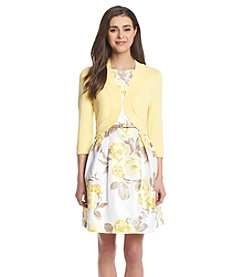 Jessica Howard® Petites' Floral Pleated Jacket Dress