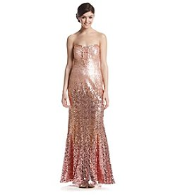 Ignite Strapless Sequin Gown