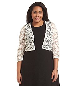 R&M Richards® Plus Size Sequin Embellished Lace Shrug