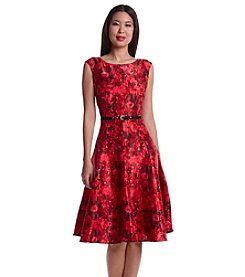 Julian Taylor Floral Patterned Midi Dress