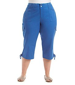 Gloria Vanderbilt® Plus Size Sophia Twill Capri Pants