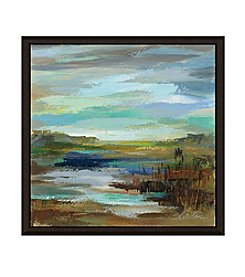 Greenleaf Art Blue Lake II Framed Canvas Art
