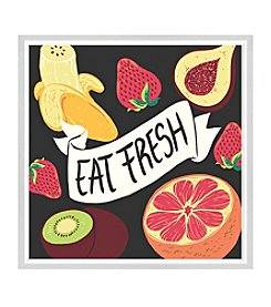 Greenleaf Art Eat Fresh Framed Canvas Art