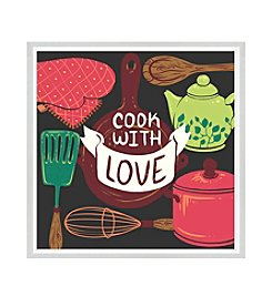 Greenleaf Art Cook with Love Framed Canvas Art