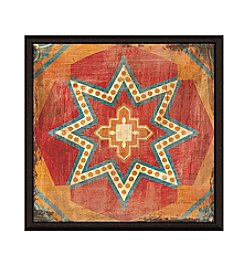 Greenleaf Art Textile Decoration II Framed Canvas Art