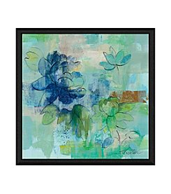Greenleaf Art Blues on Green I Framed Canvas Art