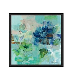 Greenleaf Art Blues on Green II Framed Canvas Art