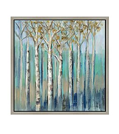 Greenleaf Art Birches at Dawn Framed Canvas Art