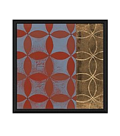 Greenleaf Art Red Shape Composition  Framed Canvas Art