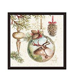 Greenleaf Art Christmas Moose Framed Canvas Art