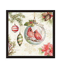 Greenleaf Art Christmas Birds Framed Canvas Art