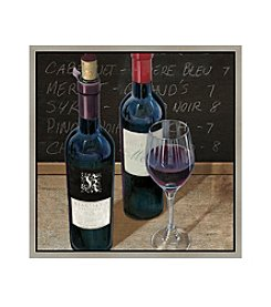 Greenleaf Art Wine and Table I Framed Canvas Art
