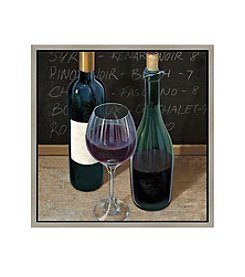 Greenleaf Art Wine and Table II Framed Canvas Art