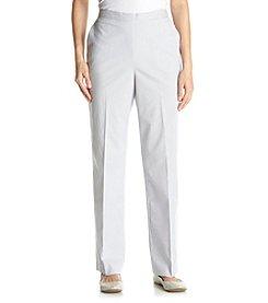 Alfred Dunner® Petites' Santa Clara Pinstripe Short Pants