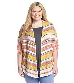 Jessica Simpson Plus Size Cozy Cardigan With Fringe