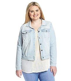 Jessica Simpson Plus Size Embroidered Denim Jacket