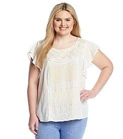 Jessica Simpson Plus Size Embroidered Top