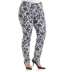 MICHAEL Michael Kors® Plus Size Flower Print Skinny Jeans