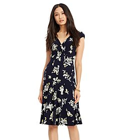 Lauren Ralph Lauren® Floral-Print Surplice Dress