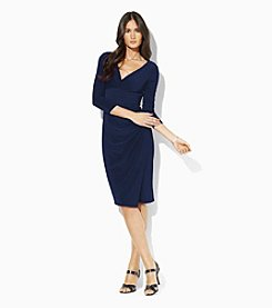 Lauren Ralph Lauren® Jersey Faux-Wrap Dress