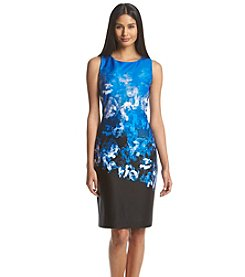 Tommy Hilfiger® Floral Ombre Scuba Sheath Dress