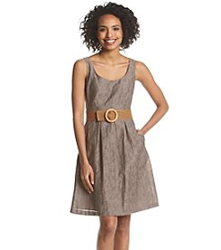 Nine West® Belted Pleated Dress