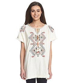 Ruff Hewn Petites' Embroidered Tunic