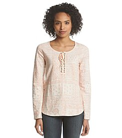 Ruff Hewn Lace-Up Henley