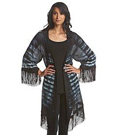 Ruff Hewn GREY Fringe Kimono