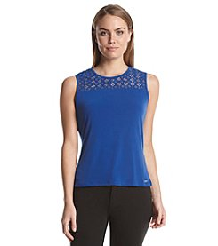 Calvin Klein Lace Detail Top