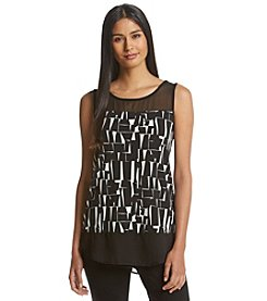 Vince Camuto® Graphic Form Top