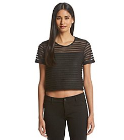 Ivanka Trump® Sheer Stripe Top