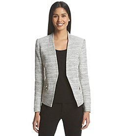Ivanka Trump® Collarless Zip-Pocket Jacket