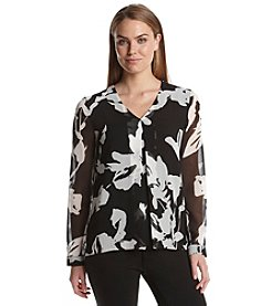 Calvin Klein Inverted Pleat Blouse