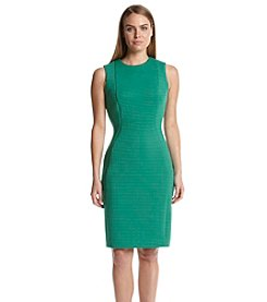 Calvin Klein Shadow Stripe Sheath Dress