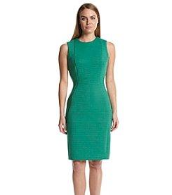 Calvin Klein Shadow Stripe Sheath Dress