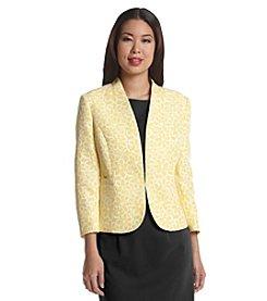 Kasper® Printed Jacquard Jacket