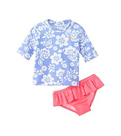 Carter's® Girls' 2T-6X Hawaii Flower Print Rashguard Set