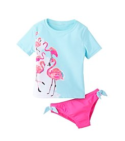 OshKosh B'Gosh® Girls' 4-6X Flamingo Rashguard Set