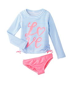 OshKosh B'Gosh® Girls' 4-6X Long Sleeve Rashguard Set