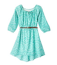 Sequin Hearts® Girls' 7-16 Long Sleeve Dress With Belt