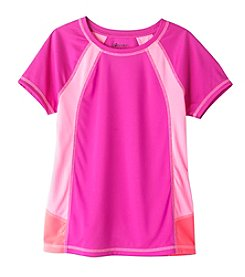 Mambo® Girls' 7-16 Short Sleeve Color Block Tee