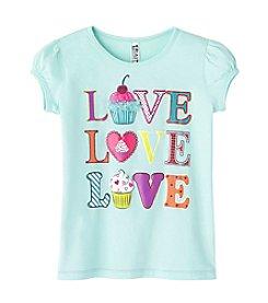 Beautees Girls' 2T-6X Short Sleeve Love Cupcake Tee