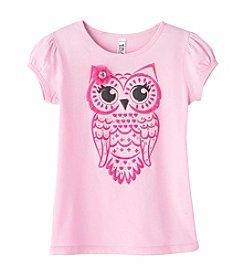Beautees Girls' 2T-6X Short Sleeve Owl Tee