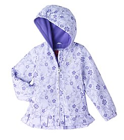 London Fog® Girls' 2T-6X Skirted Flower Print Jacket
