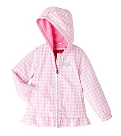 London Fog® Girls' 2T-6X Skirted Plaid Print Jacket
